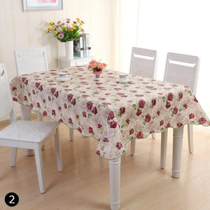 Waterproof Oil Proof PVC Table Cloth Cover Home Dining Kitchen Tablecloth Decor Size 106*152 CM/137*183 CM #260625