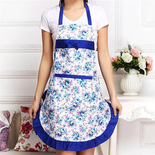 Load image into Gallery viewer, Top Seeling Women Floral Waterproof Anti-oil Kitchen Cooking Restaurant Cleaning Apron Creative Aprons for Woman Outsides BBQ