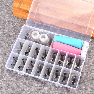 38 PCS/SET  Confectionery Cake Shop Pastry Tools For Decoration Inventory Confectionery Bags Nozzles For Cream