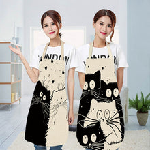 Load image into Gallery viewer, Cute cartoon cat print kitchen apron waterproof Apron Cotton Linen Easy to Clean home tools 12 styles to choose from