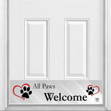 "Load image into Gallery viewer, All Paws Welcome Magnetic Kick Plate for Steel Door, 8"" x 34"" and 6"" x 30"" Size Options"