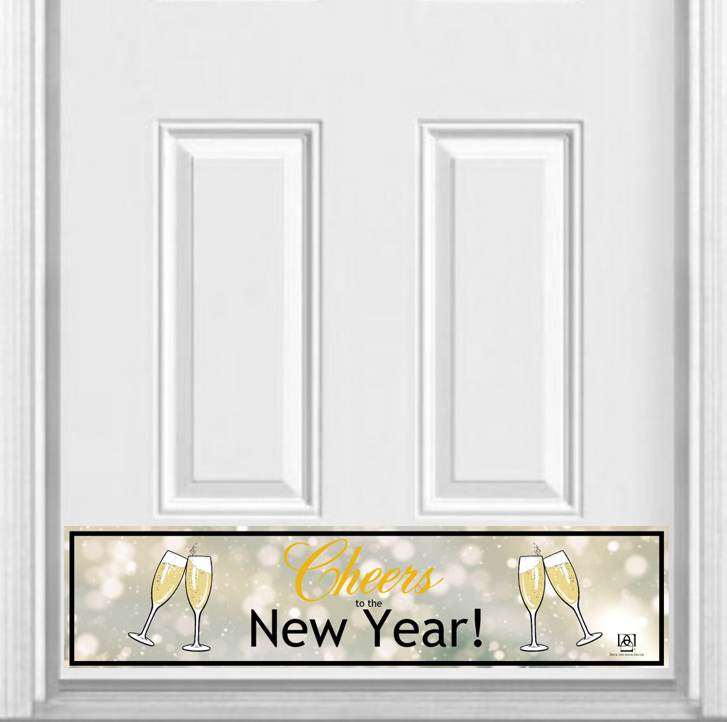 Cheers to the New Year! Magnetic Kick Plate for Steel Door, 8
