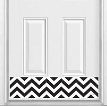 "Load image into Gallery viewer, Chevron Print Magnetic Door Kick Plate, 8"" x 34"" and 6"" x 30"" Size Options"