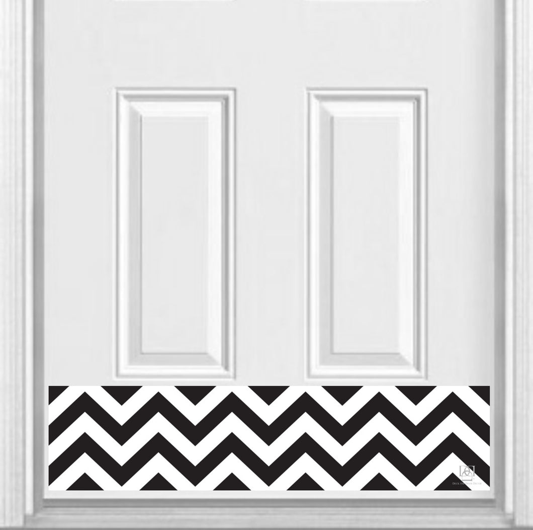 Chevron Print Magnetic Door Kick Plate, 8