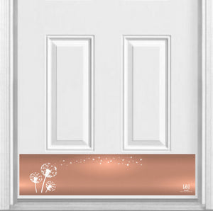 "Dandelion Wish Magnetic Kick Plate for Steel Door, 8"" x 34"" and 6"" x 30"" Size Options"