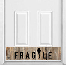 "Load image into Gallery viewer, FRAGILE Magnetic Kick Plate for Steel Door, 8"" x 34"" and 6"" x 30"" Size Options"