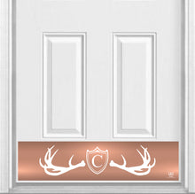 "Load image into Gallery viewer, Fez Lodge Monogram Magnetic Kick Plate for Steel Door, 8"" x 34"" and 6"" x 30"" Size Options"