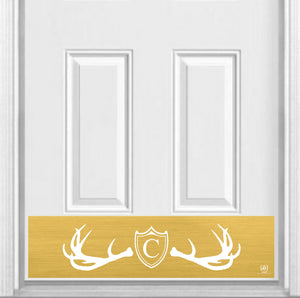 "Fez Lodge Monogram Magnetic Kick Plate for Steel Door, 8"" x 34"" and 6"" x 30"" Size Options"