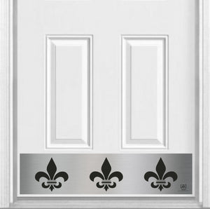 "Fleur De Lis Magnetic Kick Plate for Steel Door, 8"" x 34"" and 6"" x 30"" Size Options"