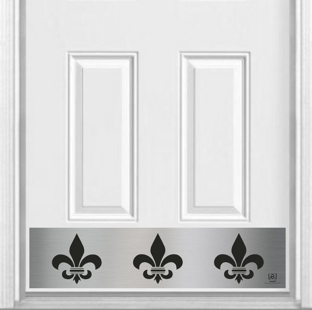 Fleur De Lis Magnetic Kick Plate for Steel Door, 8