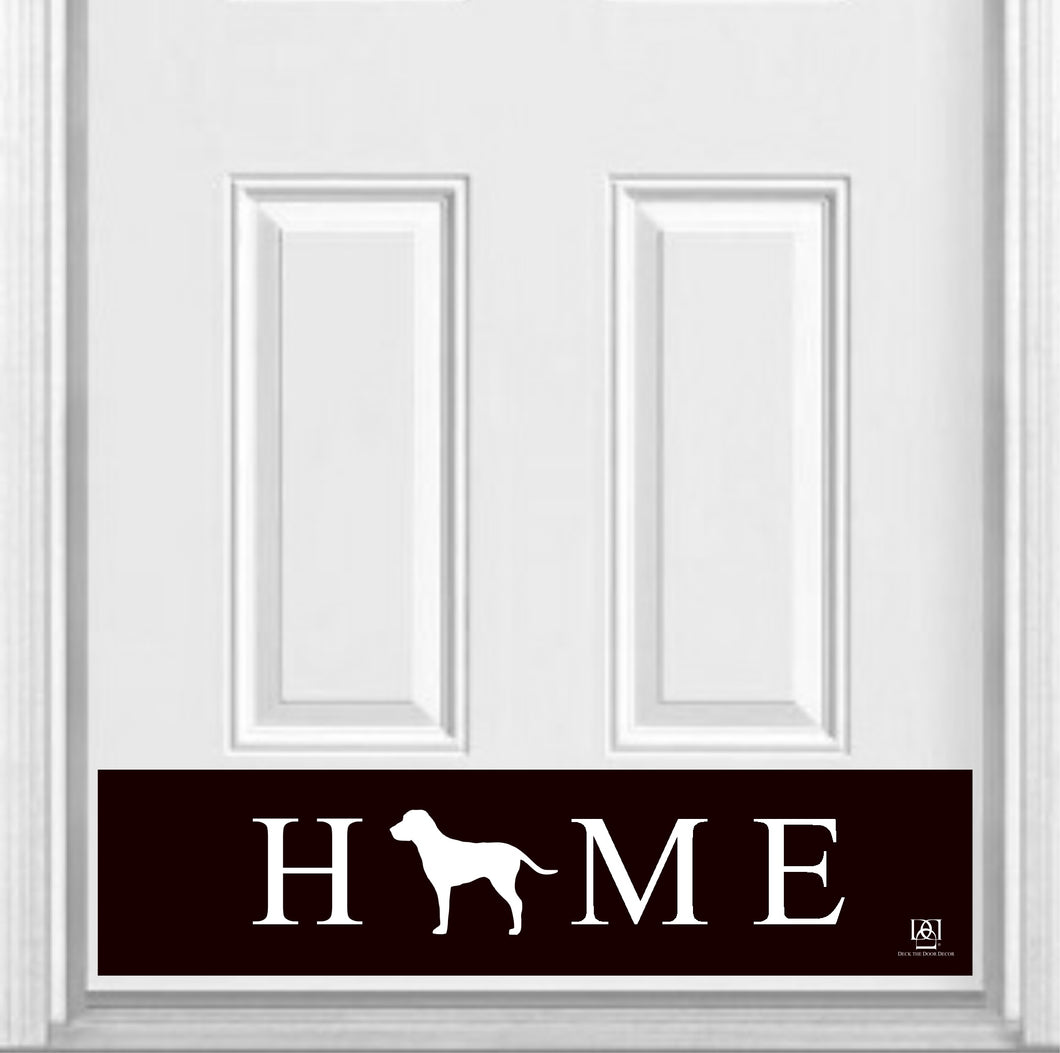 HOME Pet Silhouette Magnetic Door Sign Kick Plate, 8