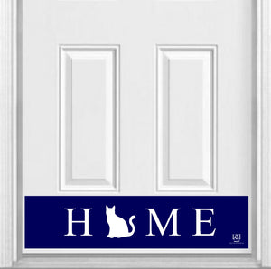 "HOME Pet Silhouette Magnetic Door Sign Kick Plate, 8"" x 34"" and 6"" x 30"" Size Options"
