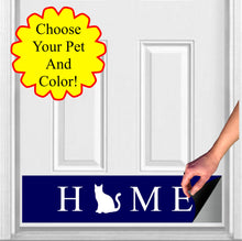 "Load image into Gallery viewer, HOME Pet Silhouette Magnetic Door Sign Kick Plate, 8"" x 34"" and 6"" x 30"" Size Options"