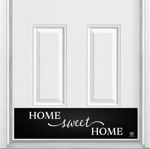 "Home Sweet Home Magnetic Kick Plate for Steel Door, 8"" x 34"" and 6"" x 30"" Size Options"