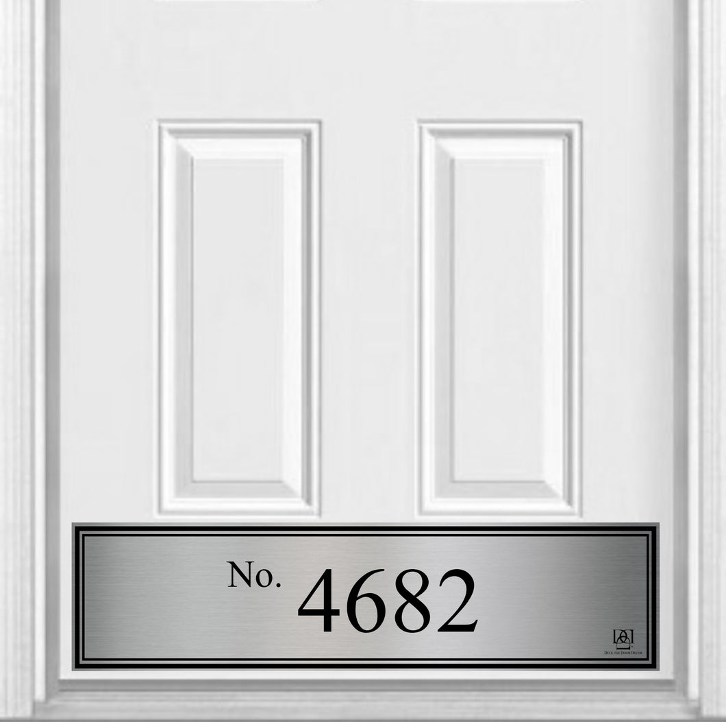 Number Home Address Magnetic Kick Plate