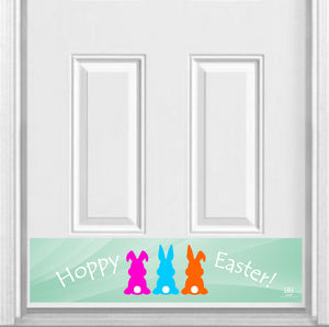 "Hoppy Easter! Magnetic Kick Plate for Steel Door, 8"" x 34"" and 6"" x 30"" Size Options"
