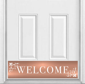 "Johnson's Welcome Magnetic Kick Plate for Steel Door, 8"" x 34"" and 6"" x 30"" Size Options"