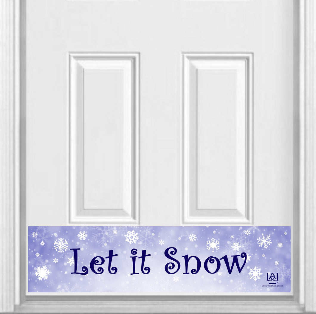 Let it Snow Magnetic Kick Plate