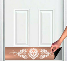 "Load image into Gallery viewer, Lion's Den Magnetic Door Sign Kick Plate, 8"" x 34"" and 6"" x 30"" Size Options"