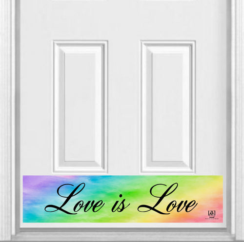 Love is Love Magnetic Kick Plate for Steel Door, 8