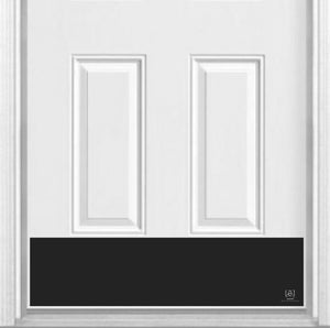 "Traditional Metallic Finish Magnetic Door Sign Kick Plate, 8"" x 34"" and 6"" x 30"" Size Options"