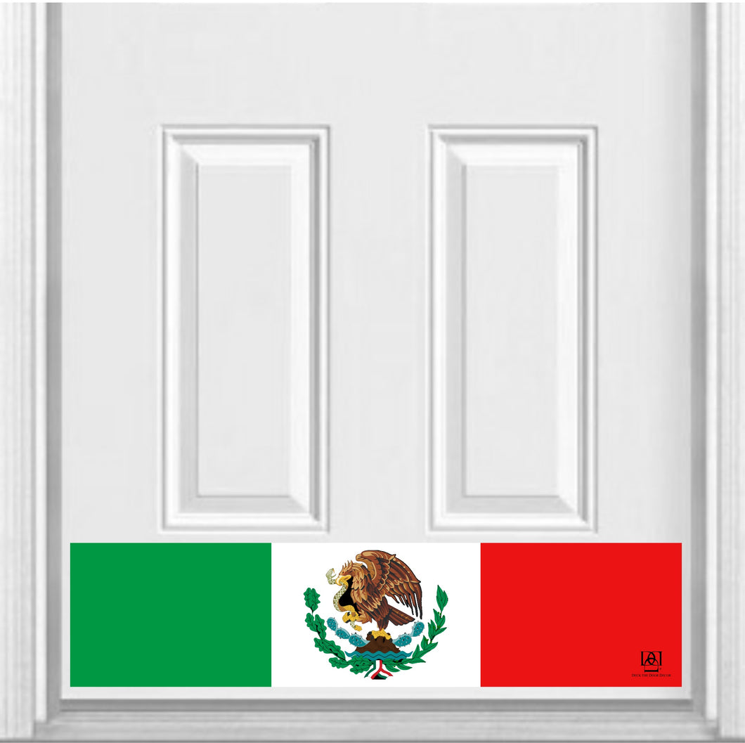 Mexican Flag Magnetic Door Sign Kick Plate, 8