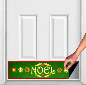 "Noel Magnetic Door Kick Plate Sign, 8"" x 34"" and 6"" x 30"" Size Options"