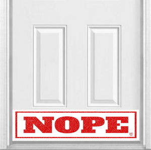 "NOPE Magnetic Door Sign Kick Plate, 8"" x 34"" and 6"" x 30"" Size Options"