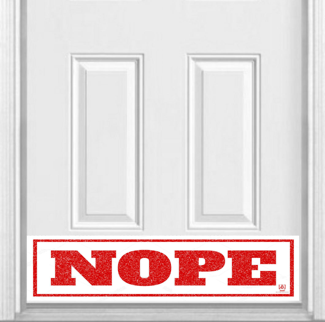 NOPE Magnetic Door Sign Kick Plate, 8