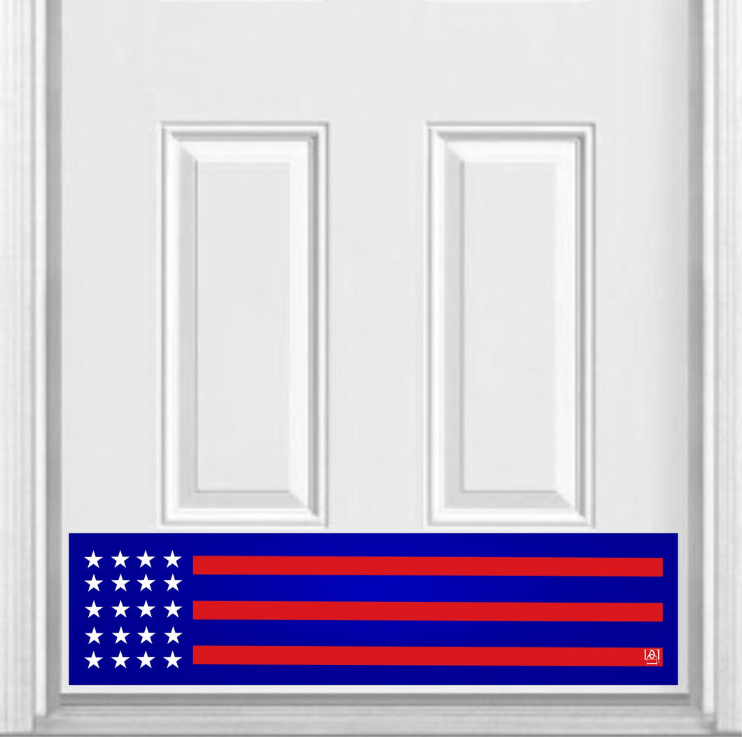 Red, White, and Blue Patriot Magnetic Kick Plate for Steel Door, 8