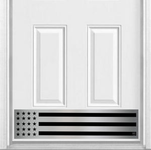 "Patriot Magnetic Door Sign Kick Plate, 8"" x 34"" and 6"" x 30"" Size Options"