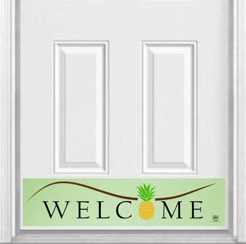 Pineapple Welcome Magnetic Kick Plate for Steel Door, 8
