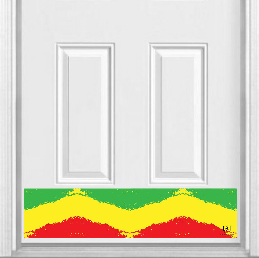 Rasta Print Magnetic Kick Plate for Steel Door, 8