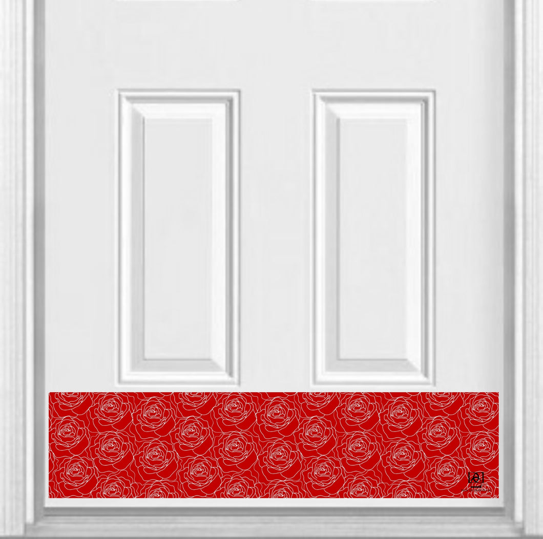 Red Roses Print Magnetic Kick Plate