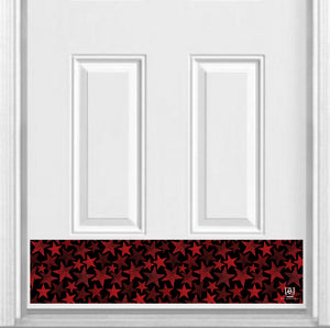 "Stars Print Magnetic Kick Plate for Steel Door, 8"" x 34"" and 6"" x 30"" Size Options"