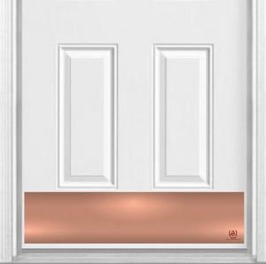 "Rose Gold Magnetic Kick Plate for Steel Door, 8"" x 34"" and 6"" x 30"" Size Options"