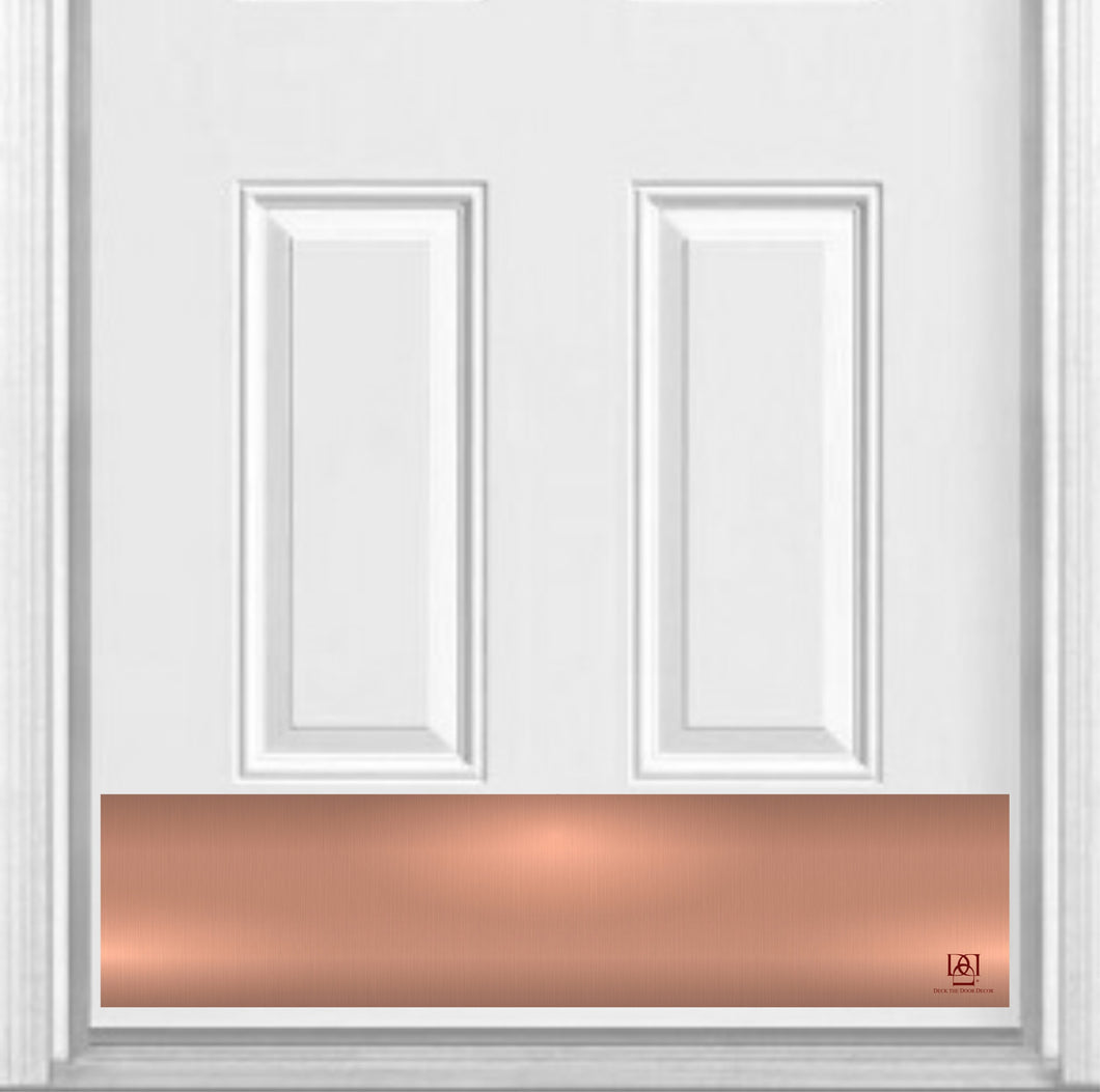 Rose Gold Magnetic Kick Plate for Steel Door, 8