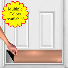 "Load image into Gallery viewer, Traditional Metallic Finish Magnetic Door Sign Kick Plate, 8"" x 34"" and 6"" x 30"" Size Options"