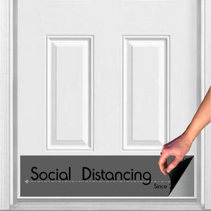 "Social Distancing Magnetic Kick Plate Door Sign, 8"" x 34"" and 6"" x 30"" Size Options"