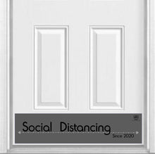 "Load image into Gallery viewer, Social Distancing Magnetic Kick Plate Door Sign, 8"" x 34"" and 6"" x 30"" Size Options"