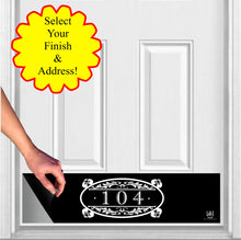 Load image into Gallery viewer, Southern Roots Home Address House Numbers Magnetic Door Sign Kick Plate