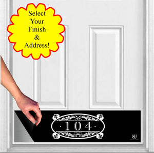 Southern Roots Home Address House Numbers Magnetic Door Sign Kick Plate