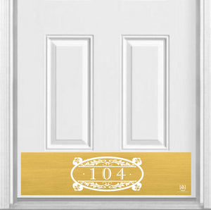 Southern Roots Home Address Magnetic Kick Plate