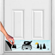 "Load image into Gallery viewer, Tis the Season Magnetic Door Sign Kick Plate, 8"" x 34"" and 6"" x 30"" Size Options"