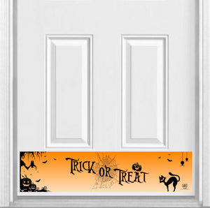 "Trick-or-Treat Magnetic Kick Plate Door Sign Kick Plate 8"" x 34"" and 6"" x 30"" Size Options"