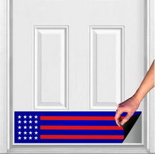 "Load image into Gallery viewer, Red, White, and Blue Patriot Magnetic Door Sign Kick Plate, 8"" x 34"" and 6"" x 30"" Size Options"