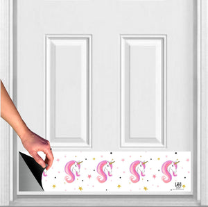 "Unicorn Print Magnetic Door Sign Kick Plate, 8"" x 34"" and 6"" x 30"" Size Options"