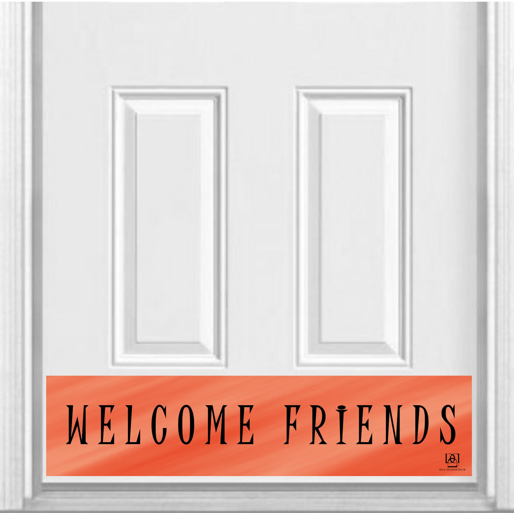 Welcome Friends Magnetic Door Sign Kick Plate, 8