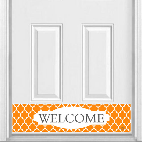 Orange Moroccan Welcome Magnetic Kick Plate for Steel Door, 8