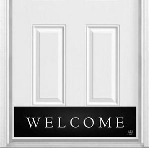 "Traditional Welcome Magnetic Kick Plate for Steel Door, 8"" x 34"" and 6"" x 30"" Size Options"